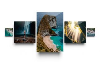 5 Piece Metal Print Collection