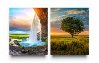 2 metal prints Side By Side in a collection