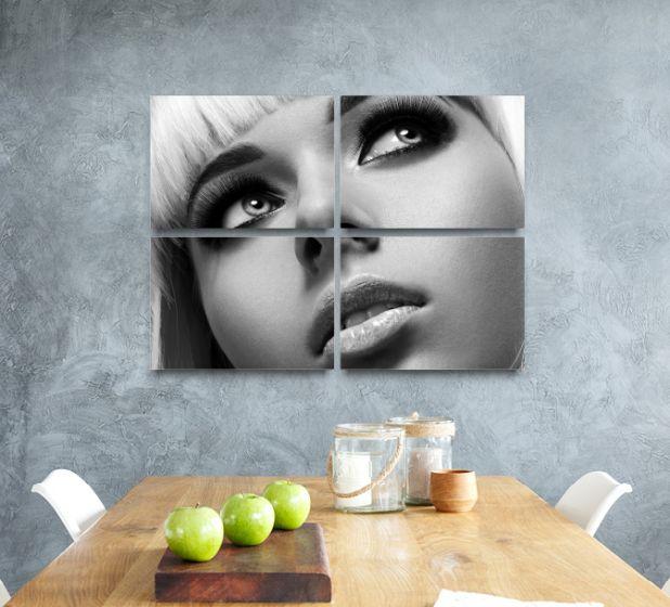 60 x 40cm 4 Panel Metal Print