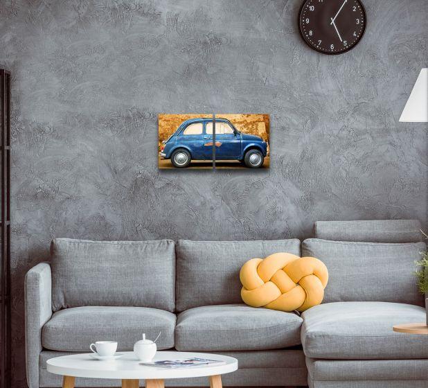 Car, 2 Panel Metal Print